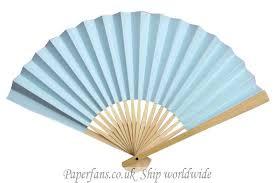 paper fan light blue paper fan wedding favor ideas 0 6