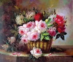 free shipping flowers free shipping flowers painting canvas print flower basket