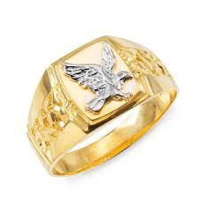 mens gold ring men s gold eagle ring eagle rings