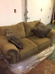 simmons antique memory foam sofa new simmons morgan antique memory foam loveseat 300 furniture