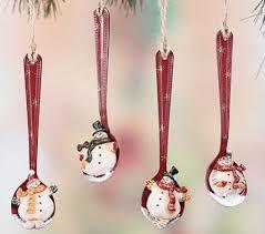 primitive resin snowman spoon ornament ornaments