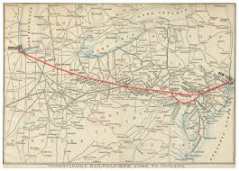 Map To Chicago by File Prr 1893 Railroad Lines New York To Chicago Jpg Wikimedia