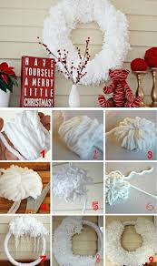 diy home christmas decorations 16 diy white christmas decorations for the home