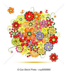 fruits bouquet floral bouquet flowers made from fruits clip vector search