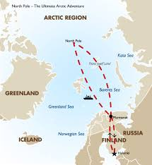 North Pole Map North Pole Ultimate Arctic Adventure Goway Travel
