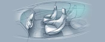 Interior Design Sketches 04 Mercedes Benz F015 Luxury In Motion Interior Design Sketches 01