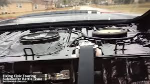 2013 honda accord subwoofer fixing the 10th civic touring subwoofer rattle issue