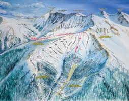 Map Of Colorado Ski Areas by Ski Trail Map Artist Kevin Mastin