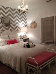 Wallpaper Ideas For Small Bedrooms White Paint For Small Bedroom Ideas With Zigzag Wallpaper And