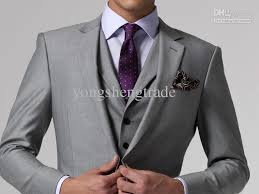 mens light gray 3 piece suit design men suit custom made suit men suit dress light grey suit men