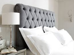 King Size Bed Upholstered Headboard by Collection In Grey King Size Headboard Grey Fabric Headboard King