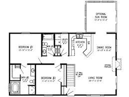 Home Floor Plans Open Concept 2 Bedroom Modular Floor Plans Concept Main Level Laundry