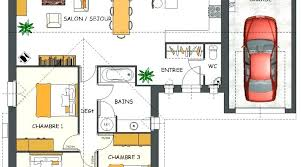plan maison plain pied 2 chambres garage plan maison plain pied 2 chambres trendy plan maison chambres plain