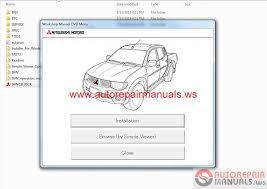 mitsubishi l200 2015 service manual cd triton auto repair