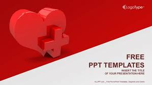 heart design for powerpoint heart with medical sign powerpoint templates