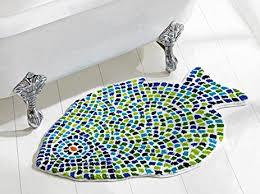 Fish Bath Rug Better Trends Pan Overseas Fish Mosaic Bath Rug 24