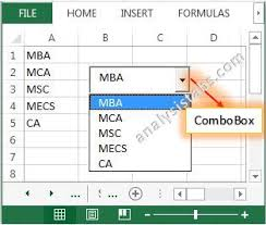 activex combobox control vba explained with examples