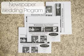 newspaper wedding programs newspaper wedding program inky diy