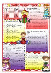 english teaching worksheets negative present simple