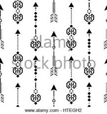 seamless black navajo print aztec pattern tribal design vector