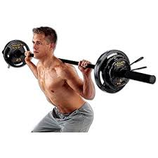 amazon com olympic weight set with bar by golds gym sports