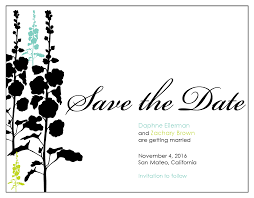 template email save the date template