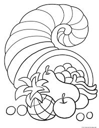cornucopia coloring page chuckbutt com