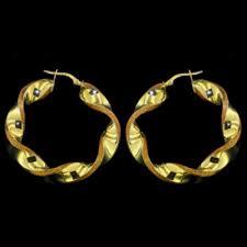 cercei din aur bijuteria vericris ro cercei aur galben model in spirala