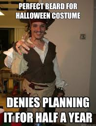 Internet Meme Costumes - perfect beard for halloween costume denies planning it for half a