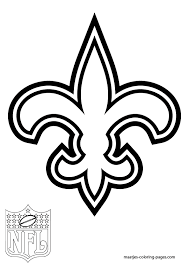 New Orleans Saints Coloring Page Many Interesting Cliparts Saints Colouring Pages