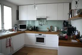 photo de cuisine blanche deco cuisine blanc et bois decoration de cuisine moderne 3 charmante