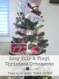 easy tile and vinyl ornaments gifts my