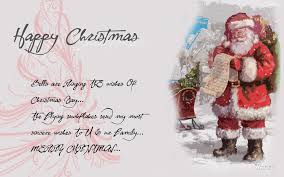 merry greeting cards with santa claus quotes