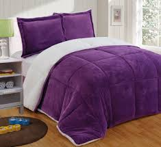 Home Design Down Alternative Comforter by Chezmoi Collection 3 Piece Micromink Sherpa Reversible Down