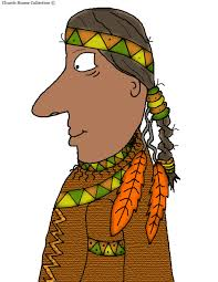 thanksgiving indian costume pilgrim and indian clip art