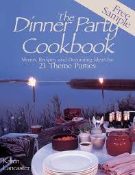 Dinner Special Ideas Dinner Party Cookbook U2014free Sample Ebook By Karen Lancaster