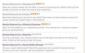 monster com resume templates get that job six online resume tools cnet