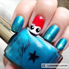 lacquered lawyer nail art blog little mermaid