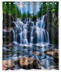 Waterfall Shower Designs Waterfall Shower Curtain Durable Fabric Design Waterfalls Shower