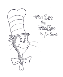 cat hat coloring pages getcoloringpages
