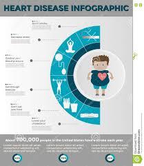 heart disease infographics template stock vector image 76911772