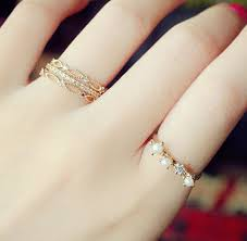 midi rings set 2015 fashion gold plated rings set color rhinestone pearl