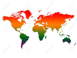 World Temperatures Map by World Map Rising Temperatures Global Warming Stock Photo