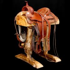 the aspen lodge saddle stand at the real log furniture place is