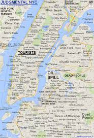Map Of New York Cities by Judgy Maps Divide Neighborhoods Into Their Worst Stereotypes City