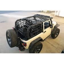 rugged ridge 13552 70 jeep wrangler jk cargo net system 2 door 07 18