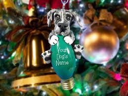 design 1 blue merle great dane natural ears christmas light bulb