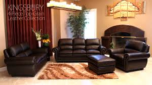 Abbyson Living Leather Sofa Kingsbury 4 Piece Leather Set Gallery