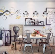 Dining Room Decals Dining Room Wall Decor With Wall Decals And Shelves Decolover Net