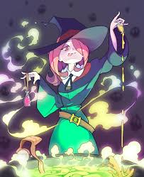 halloween anime gif rtilrtil sucy u0027s cauldron little witch academia just in time for